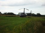 Helicopter Landing at Hendall Manor Barns