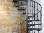 Spiral Staircase inside the barn