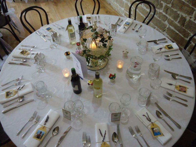Dining Table Set Up at Hendall, East Sussex Venue
