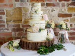 4 tiered semi-naked cake by Purple Flour