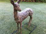 Fawn Sculpture on the Grass