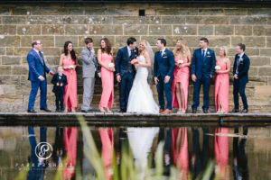 Wedding Guests by the Pond