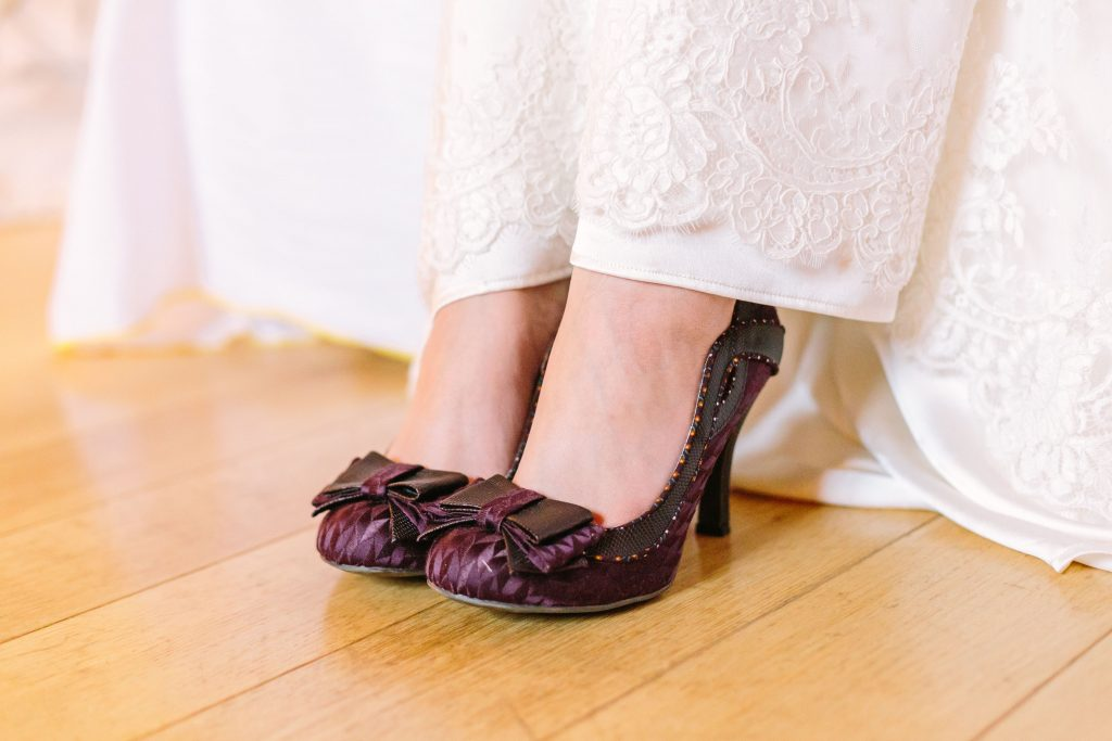 Coloured wedding shoes Sussex